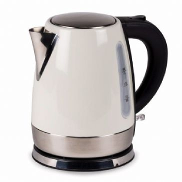 Kampa Dometic Cascade 1L Stainless Steel Electric Kettle - Cream